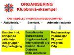 organisering klubbniv eksempel