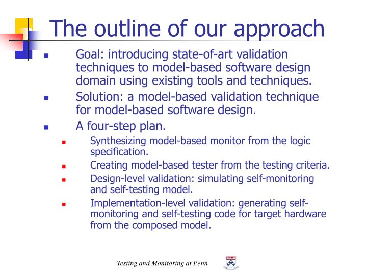 The outline of our approach