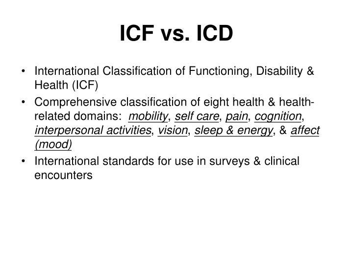 ICF vs. ICD