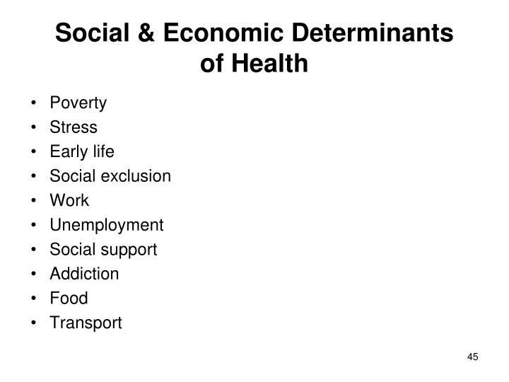 Social & Economic Determinants
