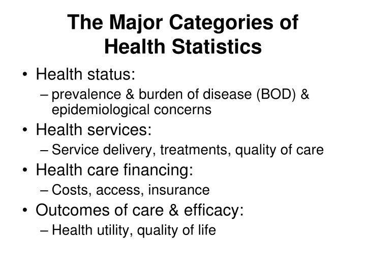 The Major Categories of