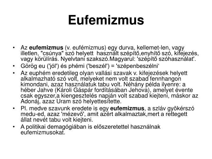 Eufemizmus