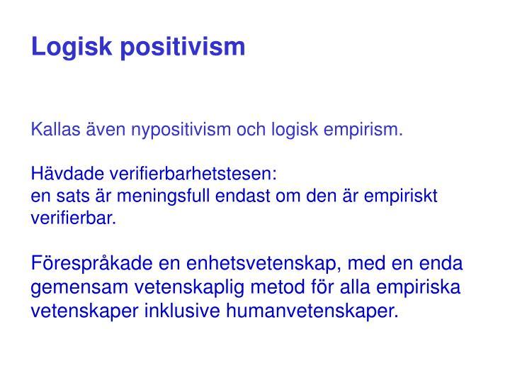 Logisk positivism