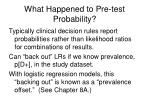 what happened to pre test probability