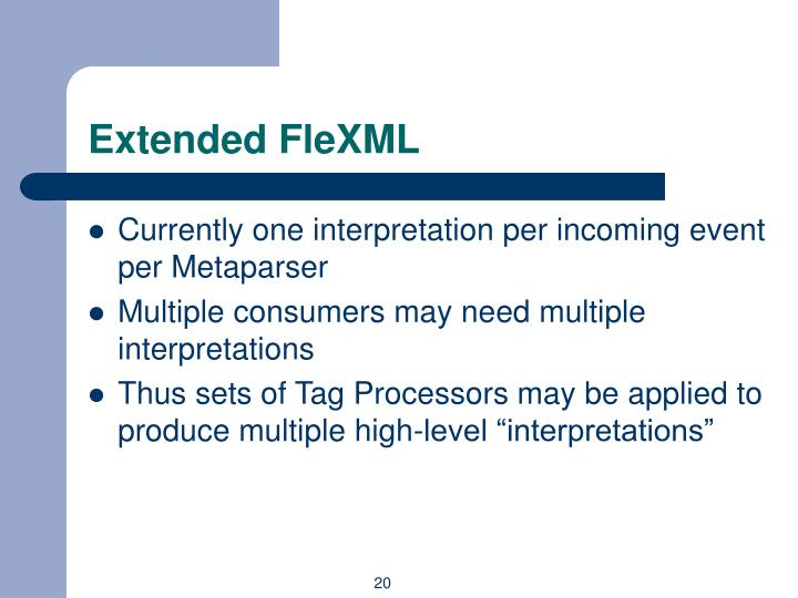Extended FleXML