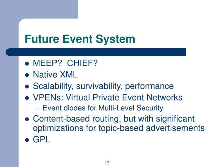 Future Event System