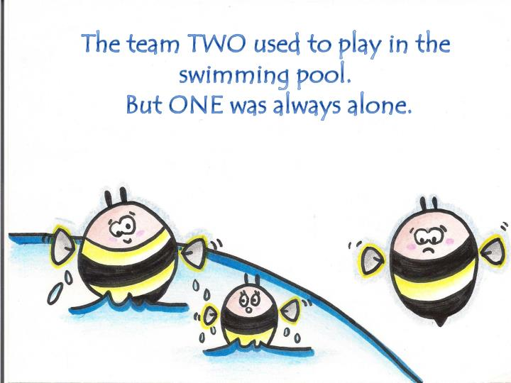 The team three used to play voleyball but one was always alone