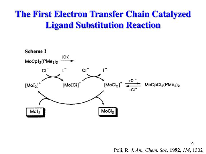 The First Electron Transfer Chain Catalyzed Ligand Substitution Reaction