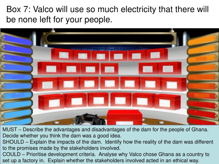 Box 7: Valco will use so much electricity that there will be none left for your people.