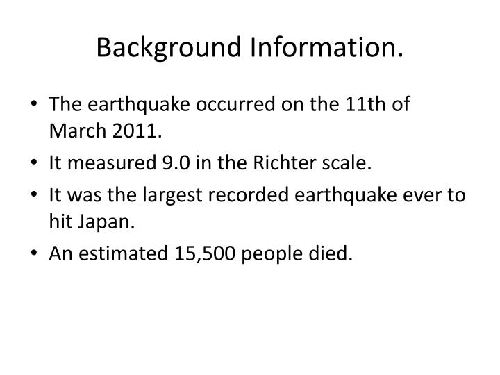 medc earthquake case study fukushima japan 2011