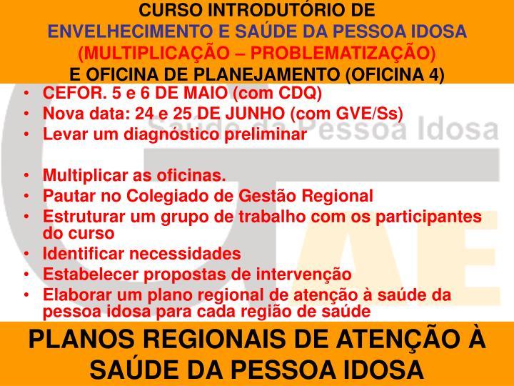 CURSO INTRODUTÓRIO DE