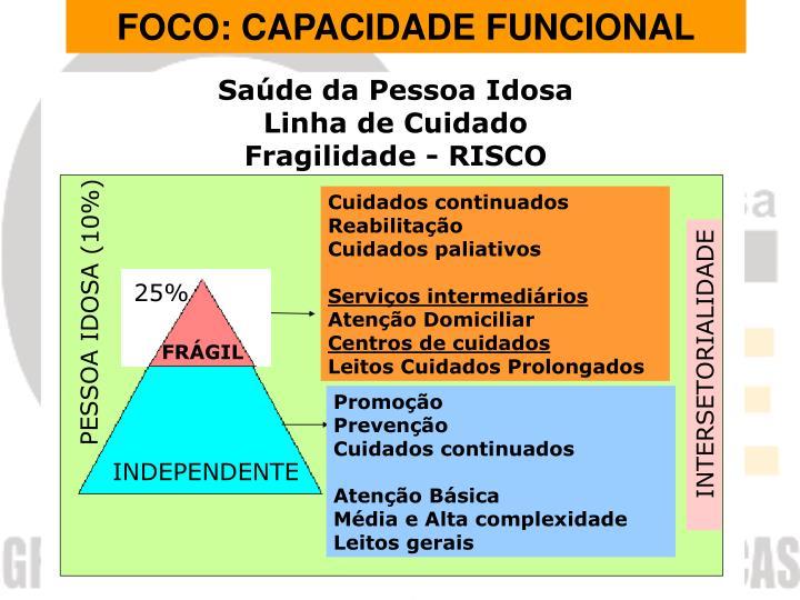 FOCO: CAPACIDADE FUNCIONAL