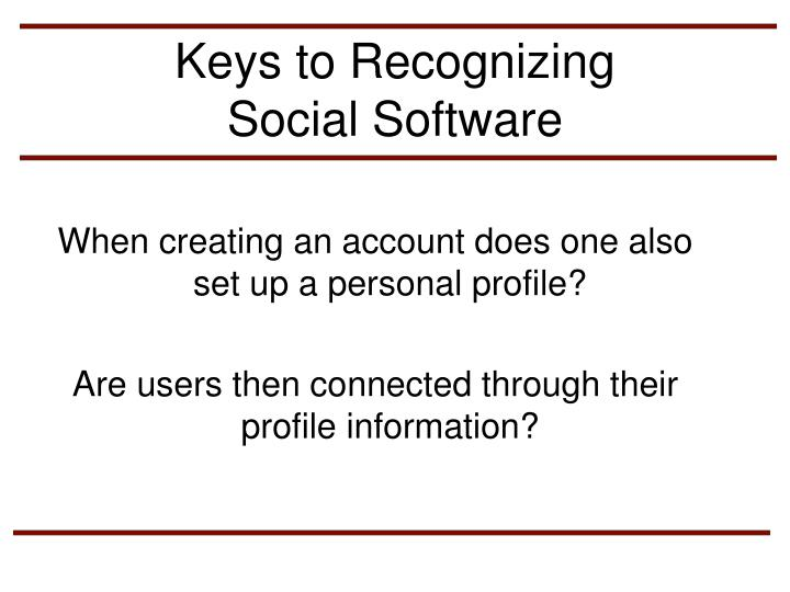 Keys to Recognizing