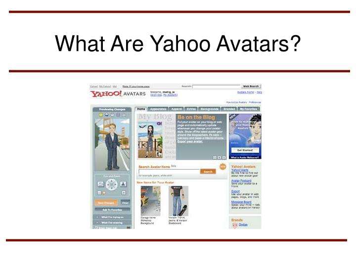 What Are Yahoo Avatars?