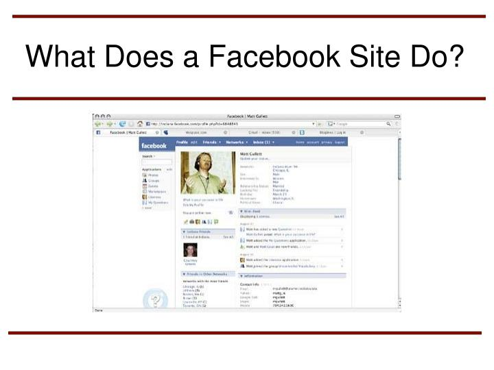 What Does a Facebook Site Do?