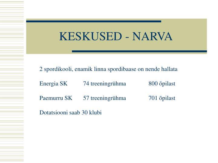 KESKUSED - NARVA