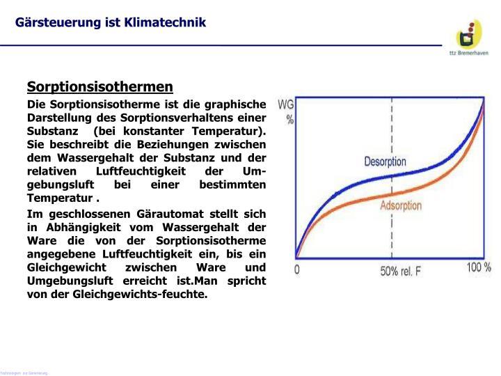 Gärsteuerung ist Klimatechnik