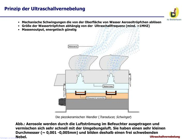 Prinzip der Ultraschallvernebelung