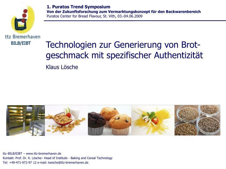 1. Puratos Trend Symposium