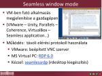 seamless window mode