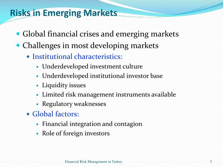 the emerging risk of global financial crisis essay Value-at-risk (var), developed countries, emerging markets  market risk of developed and emerging countries during the global financial crisis papers.