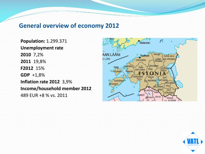 General overview of economy 2012
