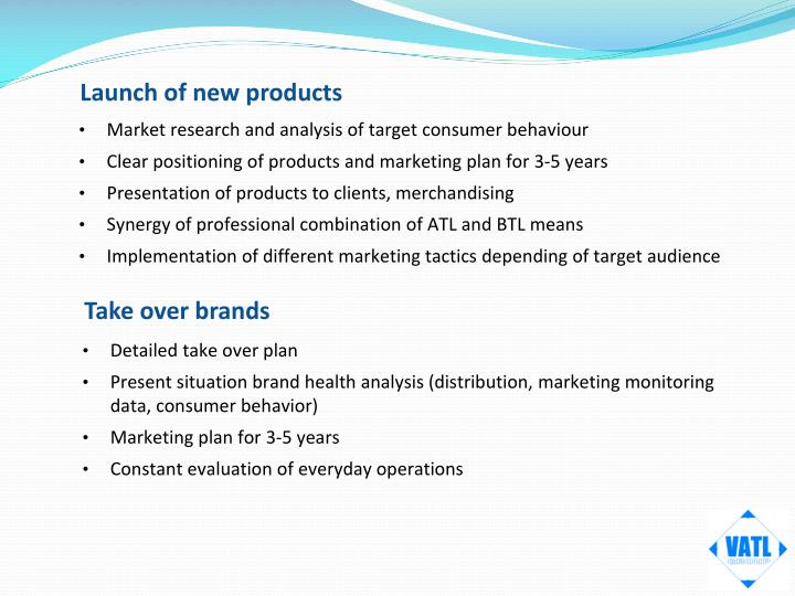 Launch of new products