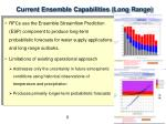 current ensemble capabilities long range