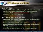 nws mission and goals