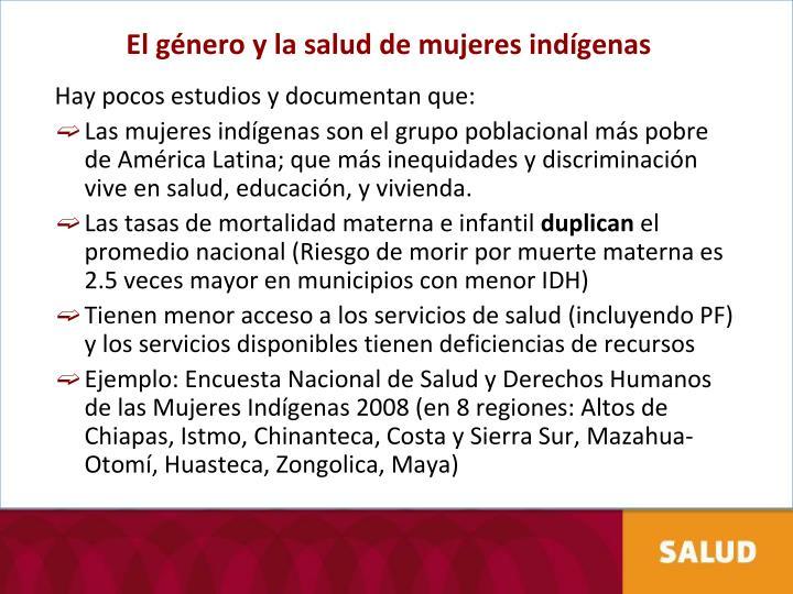 El género y la salud de mujeres indígenas