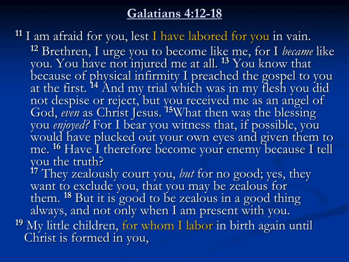 Galatians 4 12 18