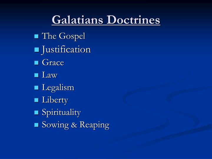 Galatians Doctrines