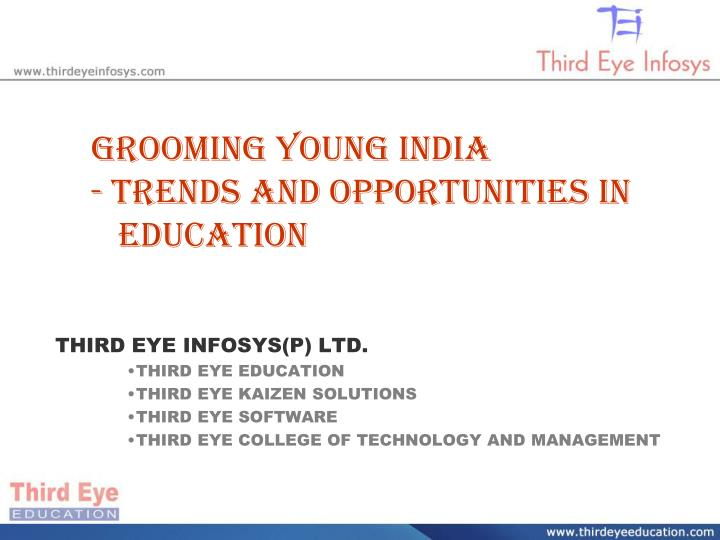grooming young india trends and opportunities in education n.