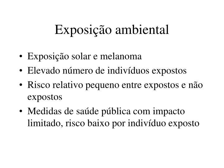 Exposição ambiental