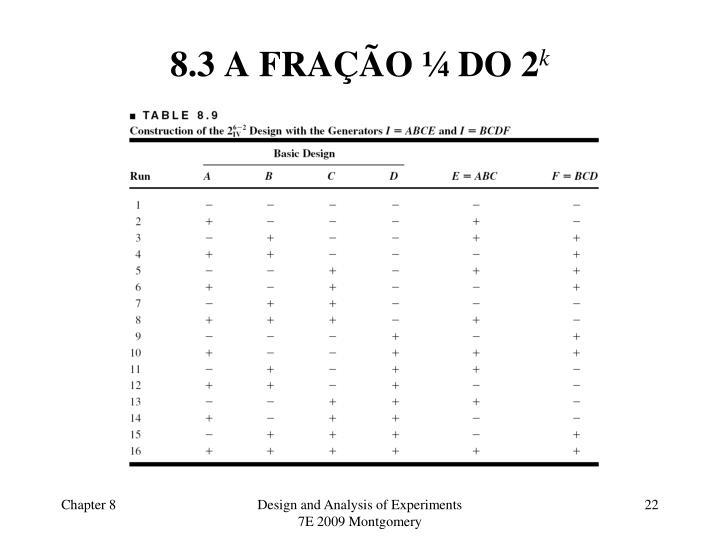 8.3 A FRAÇÃO ¼ DO 2