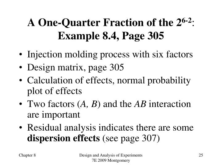 A One-Quarter Fraction of the 2