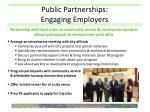 public partnerships engaging employers