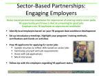 sector based partnerships engaging employers