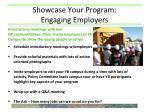showcase your program engaging employers