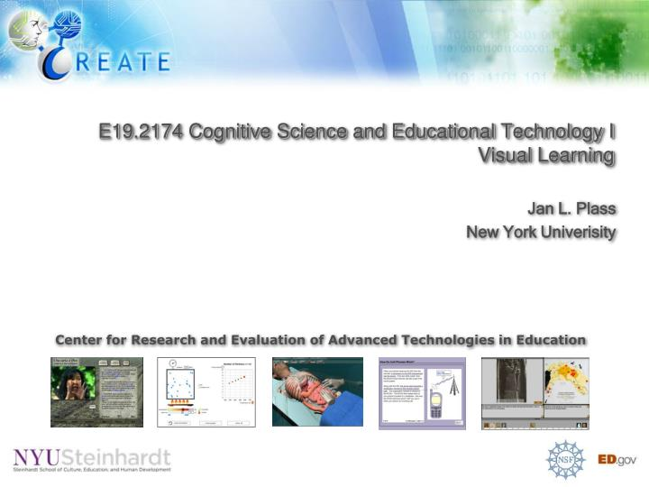 E19 2174 cognitive science and educational technology i visual learning
