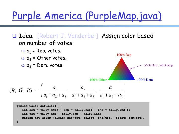 Purple America (PurpleMap.java)