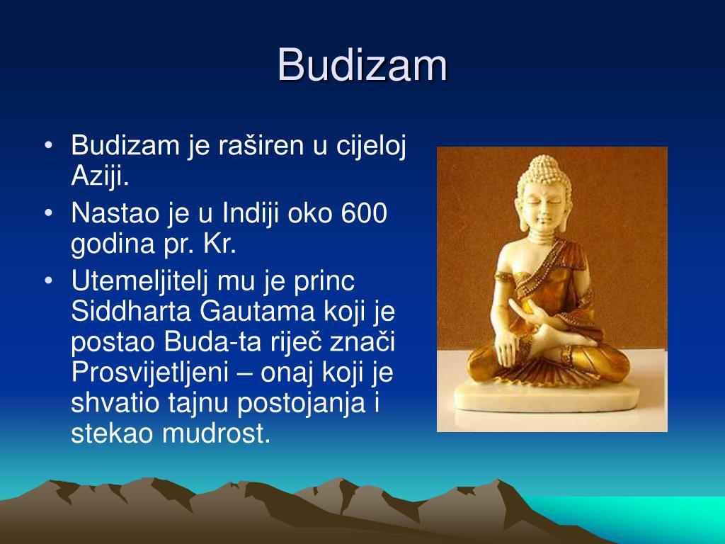 budistički izlazak kršćanin