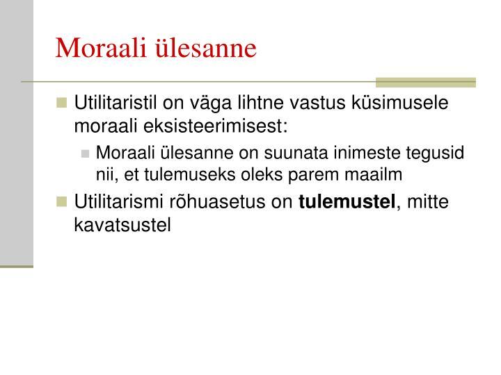 Moraali ülesanne