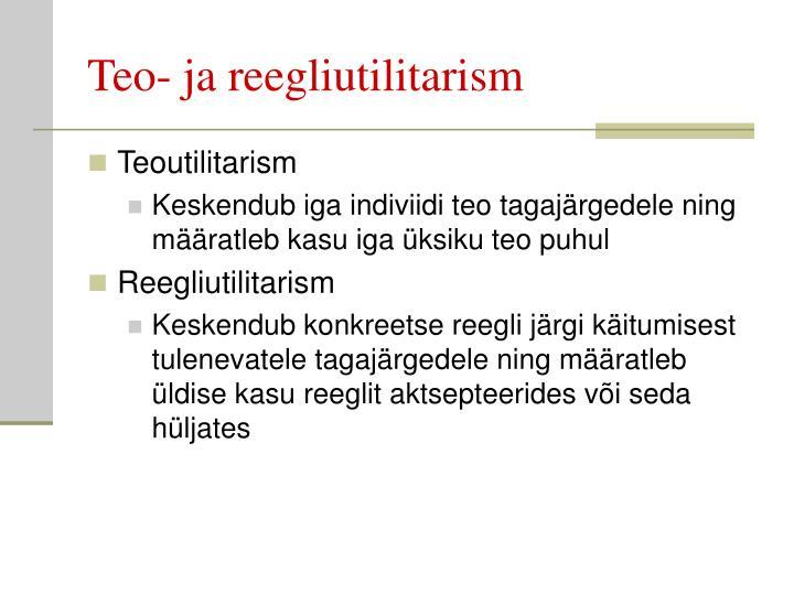 Teo- ja reegliutilitarism