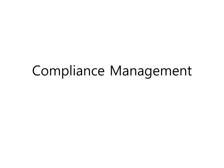 compliance management n.