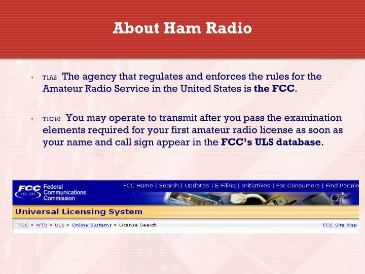 from Grady amateur radio technician class