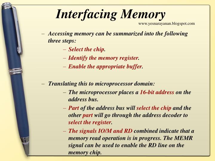 Interfacing Memory