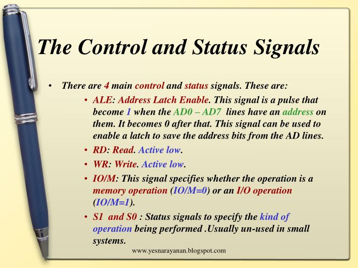 The Control and Status Signals