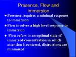 presence flow and immersion