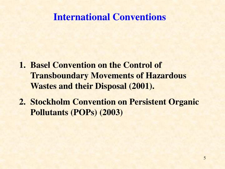 International Conventions